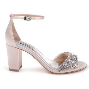Badgley Mischka HInes Pink Block Heel Sandals
